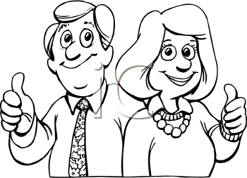 Mother And Father Clipart Black And White.