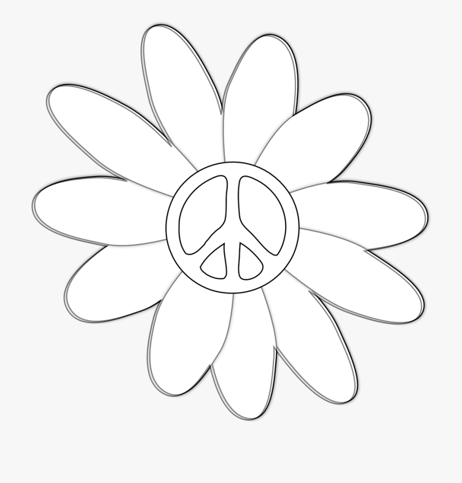 Flowers Clip Art Black And White.