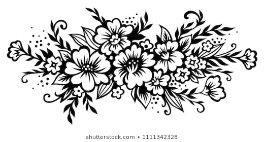 Clipart Of Flowers Black And White & Free Clip Art Images #23185.