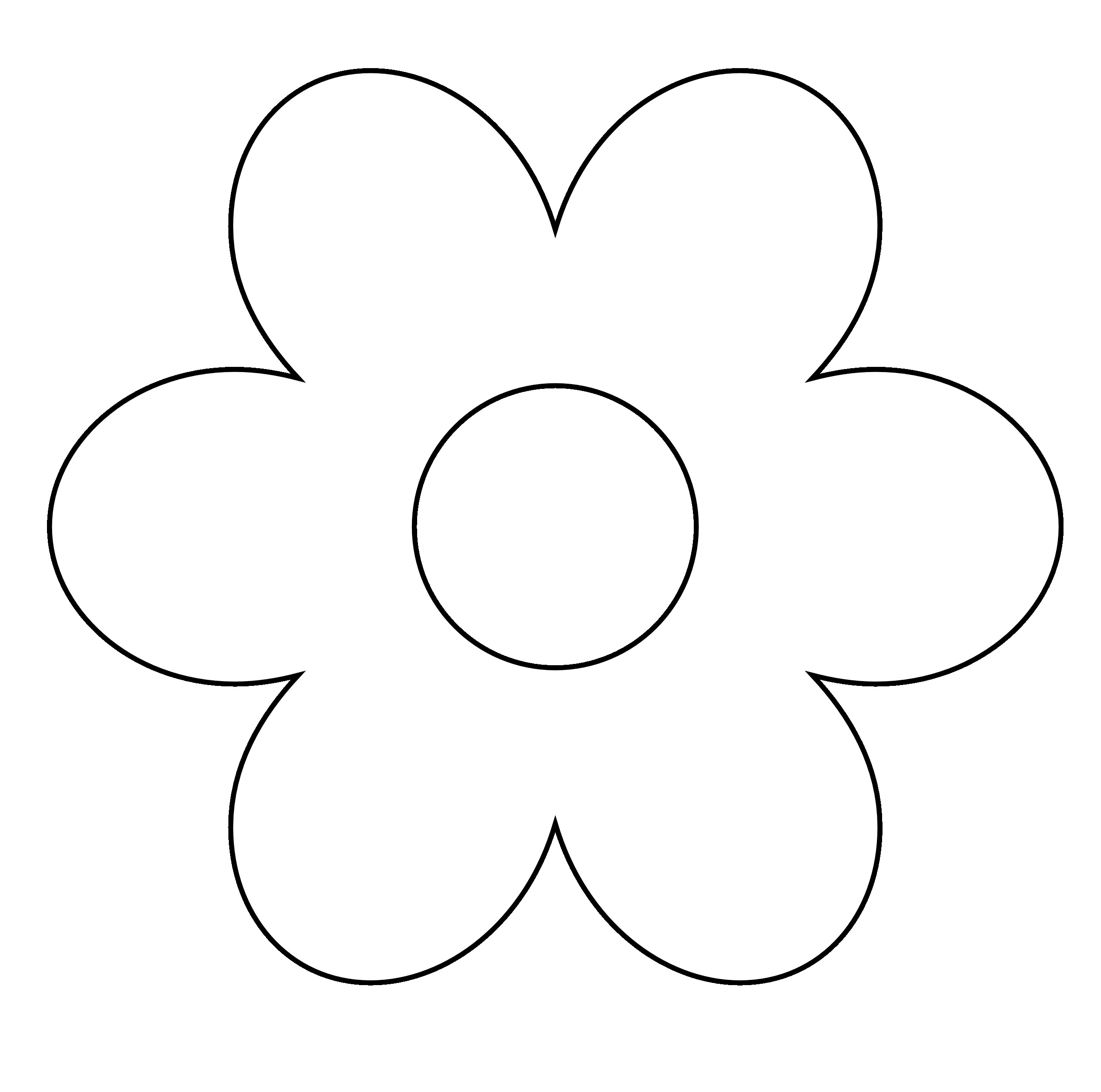 Spring Flower Patch Black White On And Clip Art.