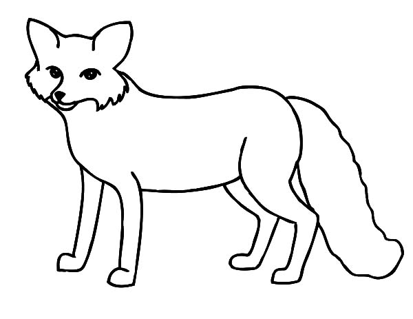 Black And White Fox Clipart.