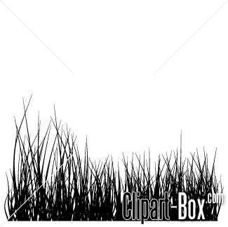 Black Grass Clip Art.