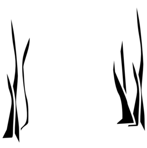 Grass Clipart Black And White Outline.