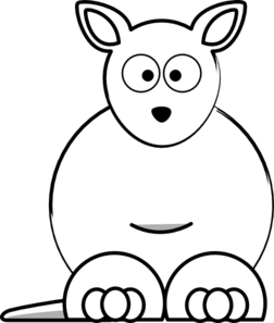Kangaroo Clip Art Black And White.