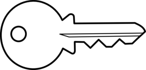Key Clip Art Black And White.