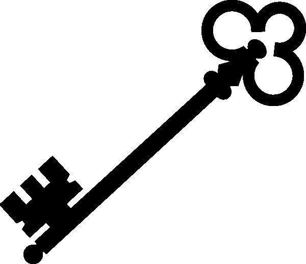Black Olde Key Clip art.