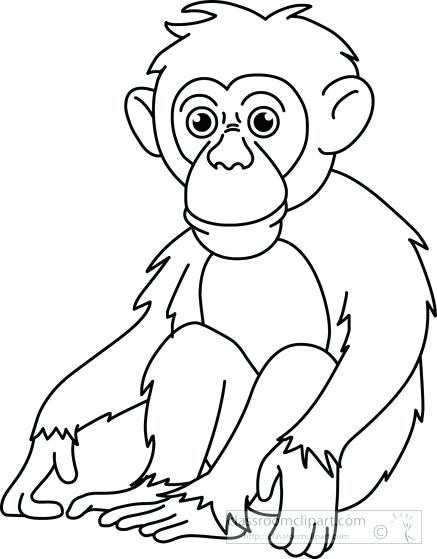 Black and white monkey clipart 2 » Clipart Station.