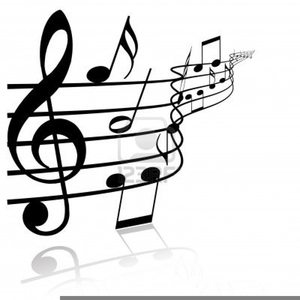 Black And White Music Notes Clipart.