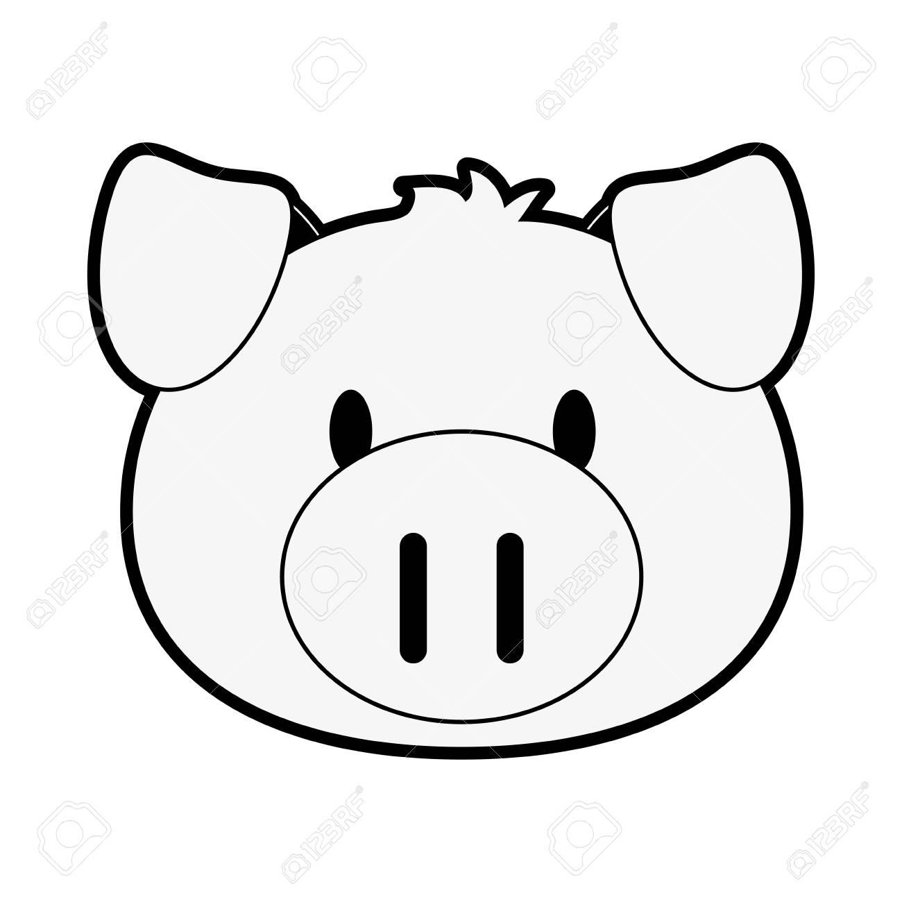 11222 Pig free clipart.