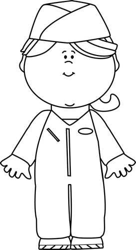 clipart black and white pilot #9