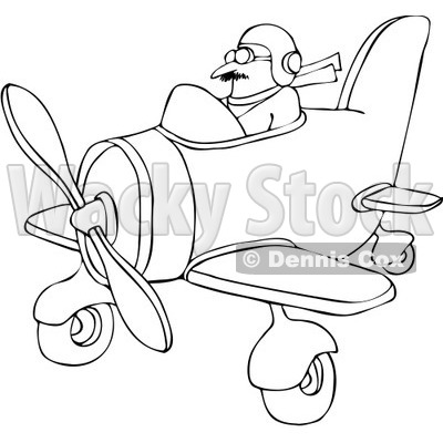 Free Vector Clip Art Illustration of a Coloring Page Outline Of A.