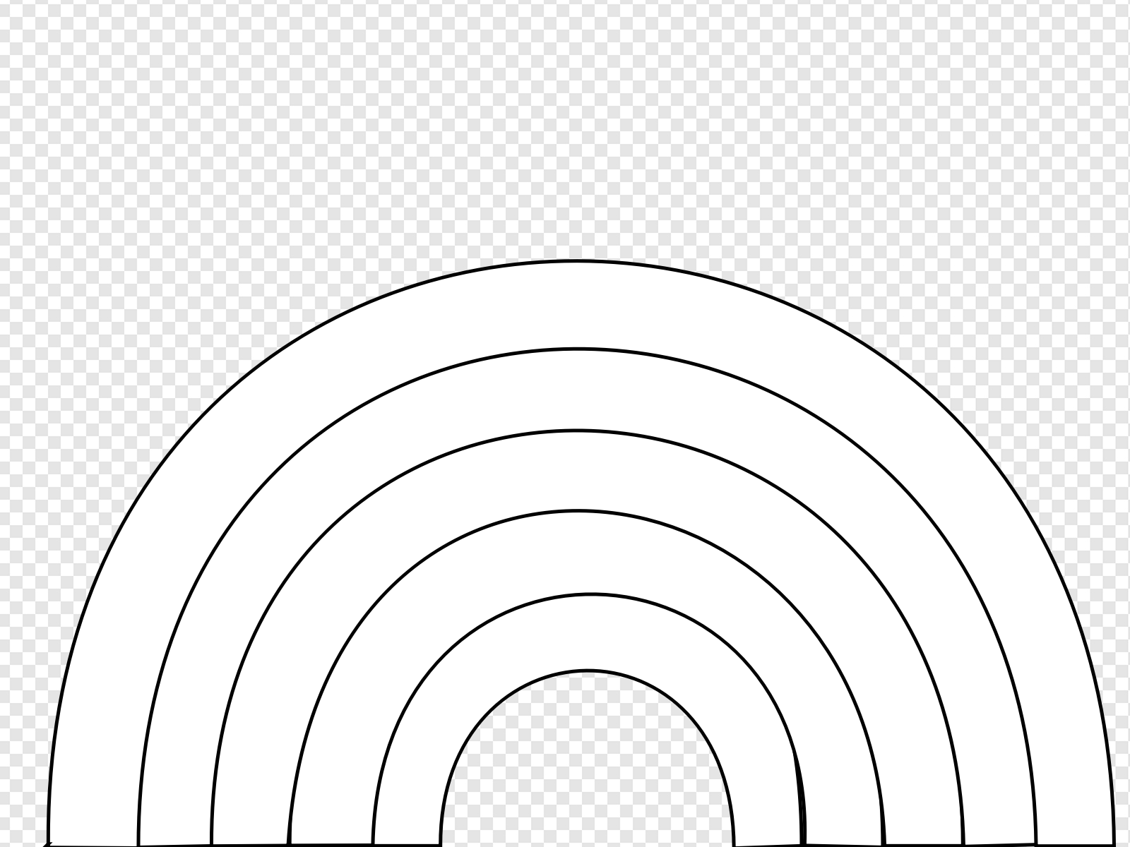 Black And White Rainbow Clip art, Icon and SVG.