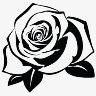 White Rose Clipart Black And White.