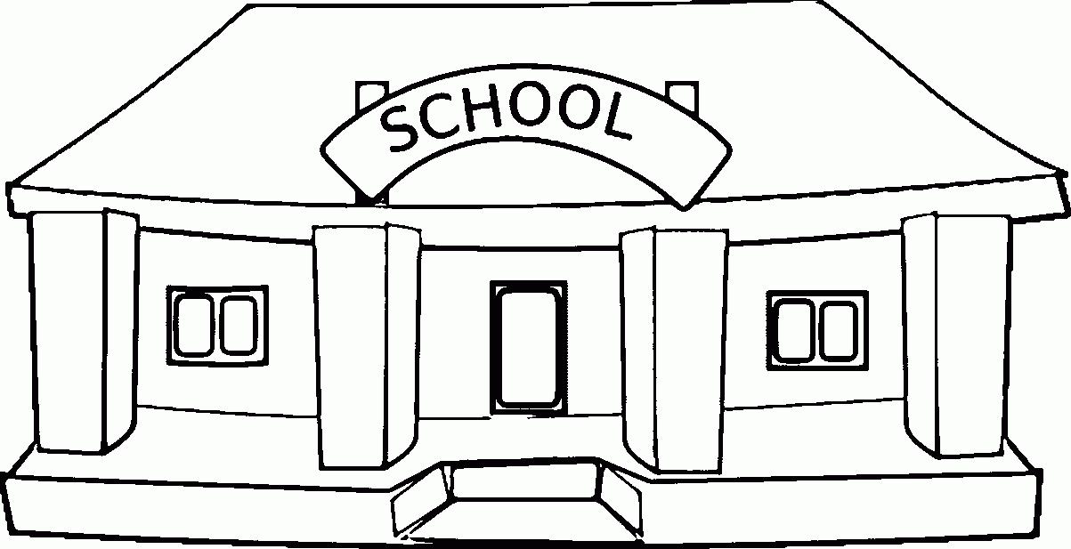 School Clipart Black And White Anima.
