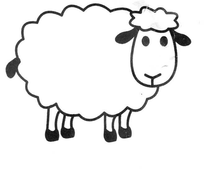White Sheep Clipart.