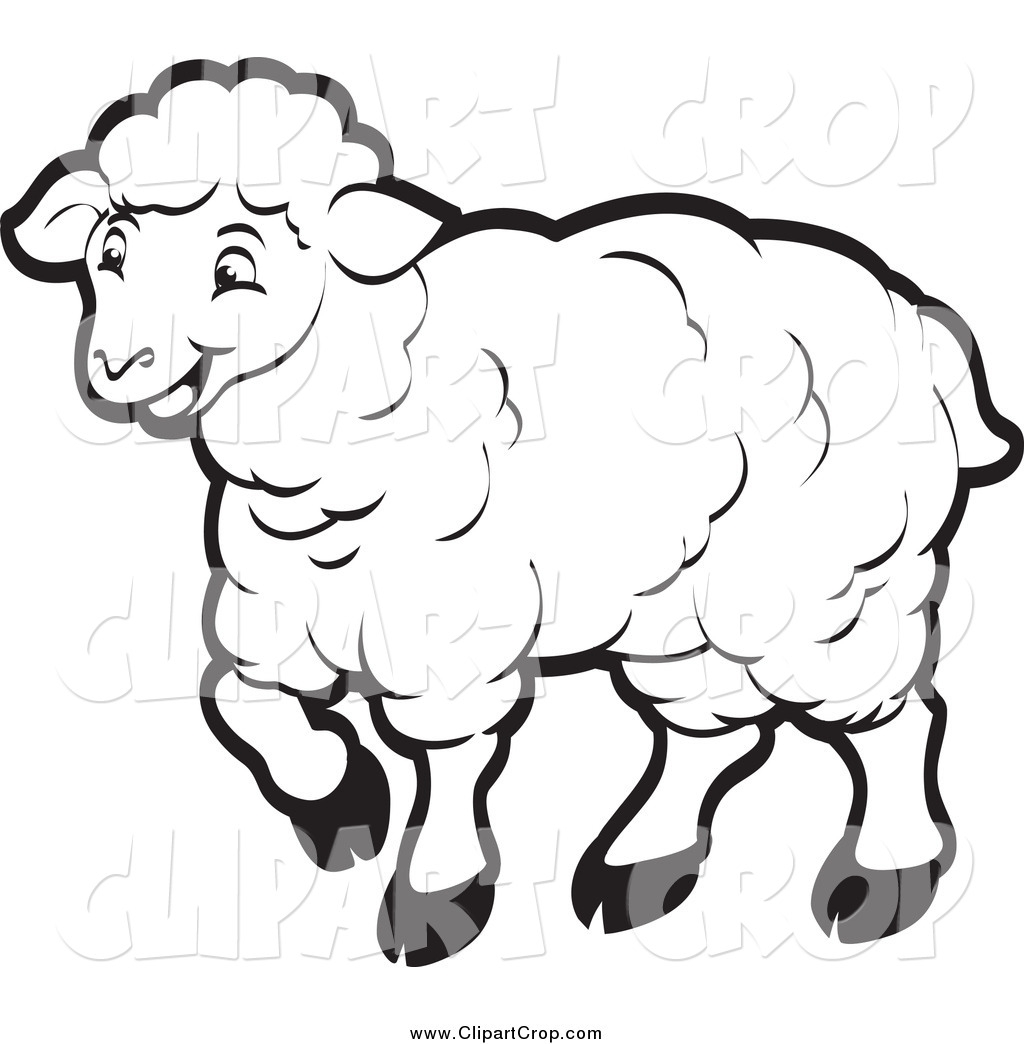 Black And White Sheep Clipart#1943613.