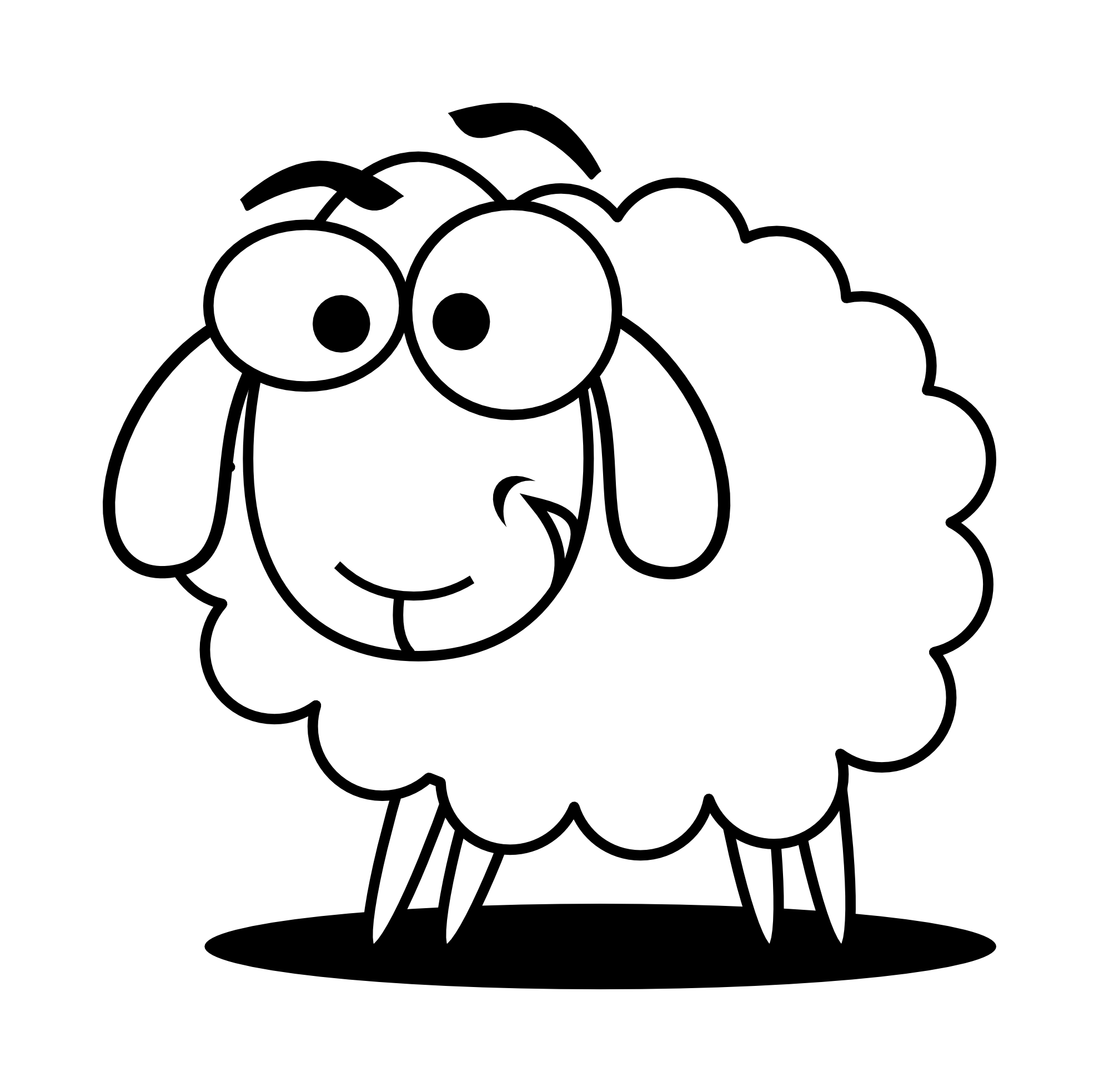 Sheep lamb clipart black and white free clipart images.