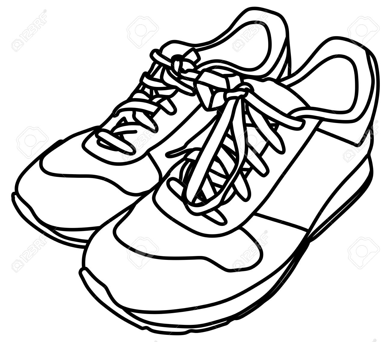 Clipart black and white shoes 4 » Clipart Station.