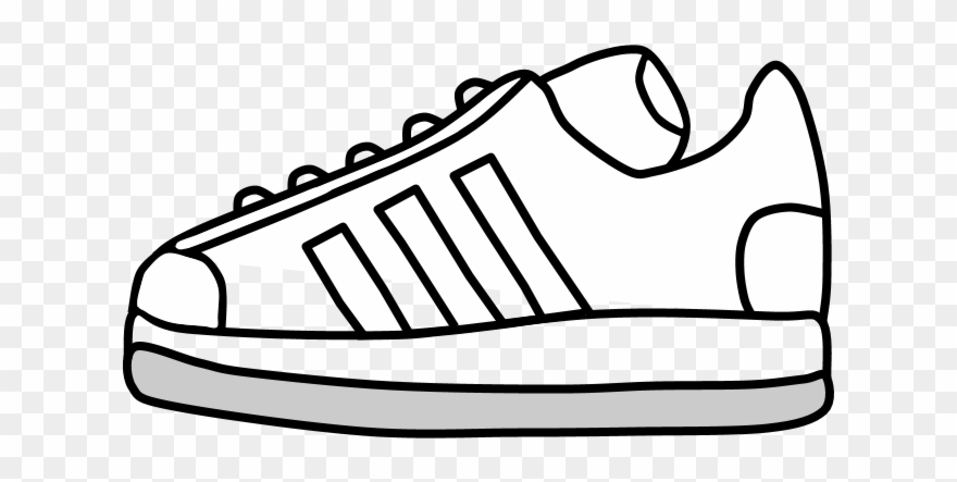 Sneakers, Tennis Shoes, Black And White Stripes, Png Clipart.