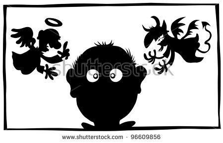 Devil Silhouette Stock Images, Royalty.