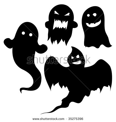Ghost Silhouette Stock Images, Royalty.