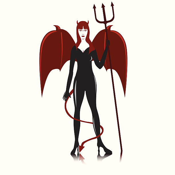 Silhouette Of The Succubus Clip Art, Vector Images & Illustrations.
