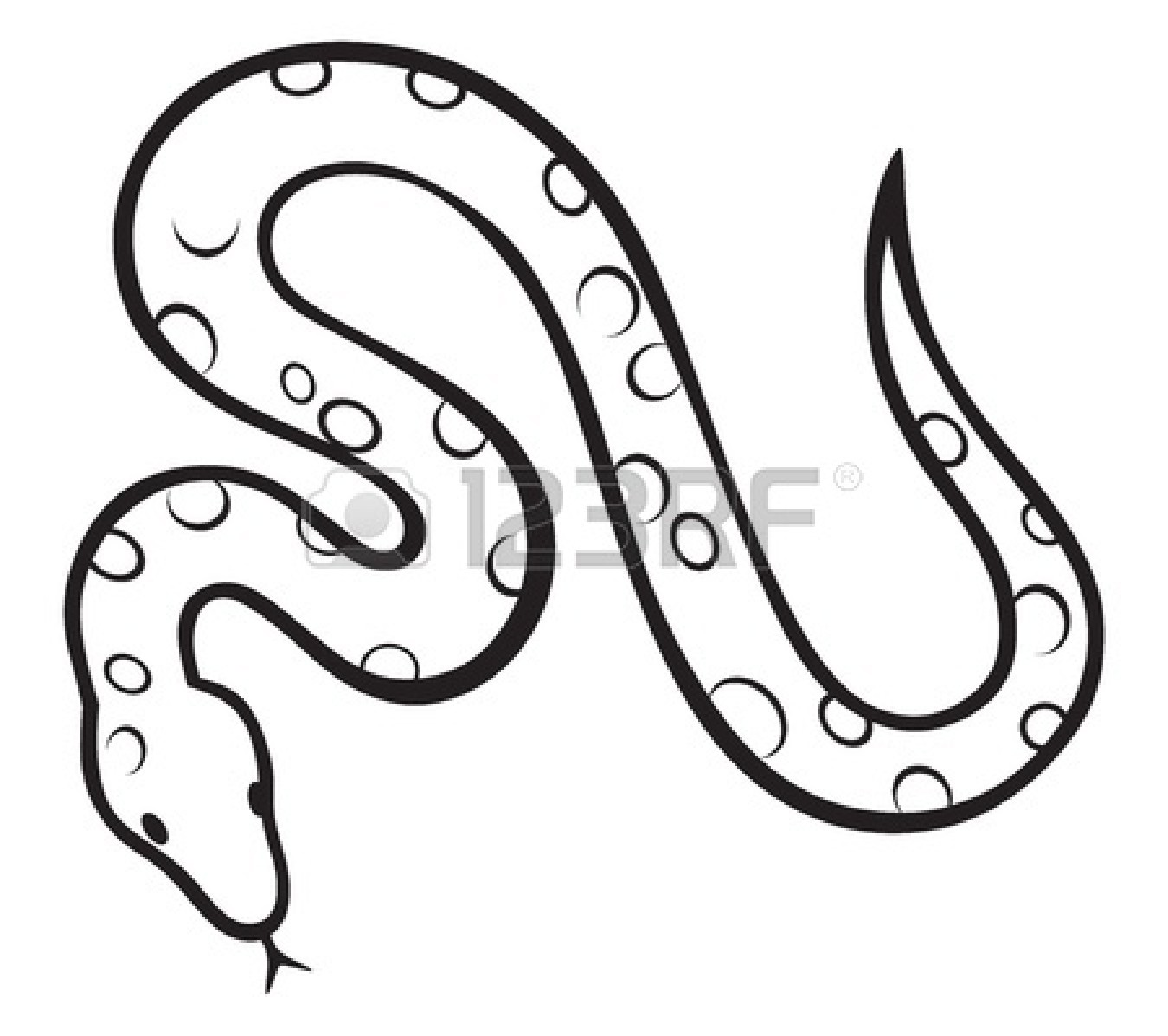 Clipart Of Snake Black And White.