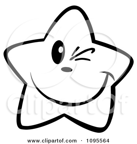Stars Clipart Black And White.
