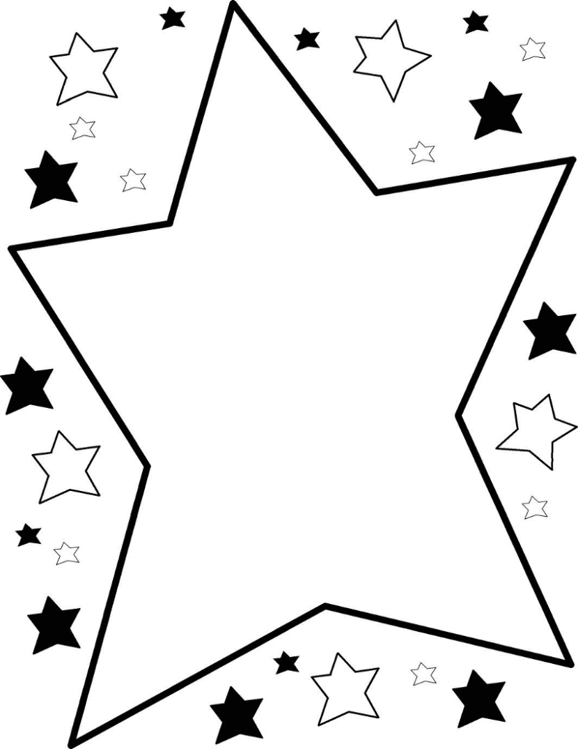 Best Star Clipart Black and White #27784.