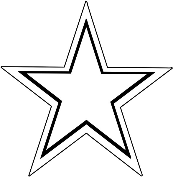 Image of Star Clipart Black and White #11168, Black And White Star.