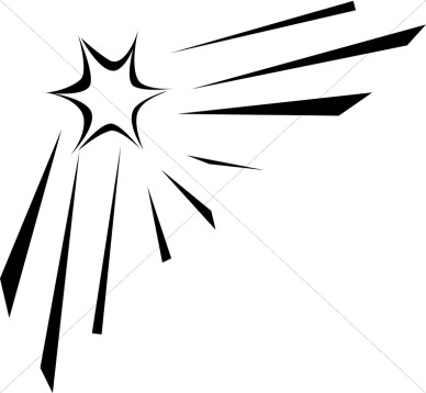 Shooting Star Clip Art Black And White.