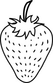Strawberry Plant Clipart Black And White.