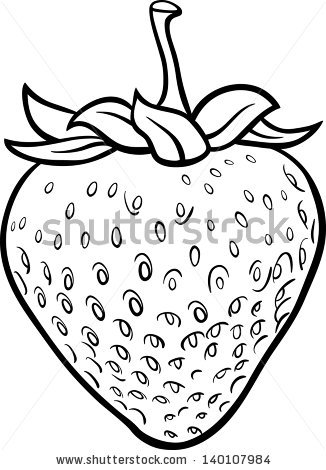 Strawberry black and white vector free free vector download.