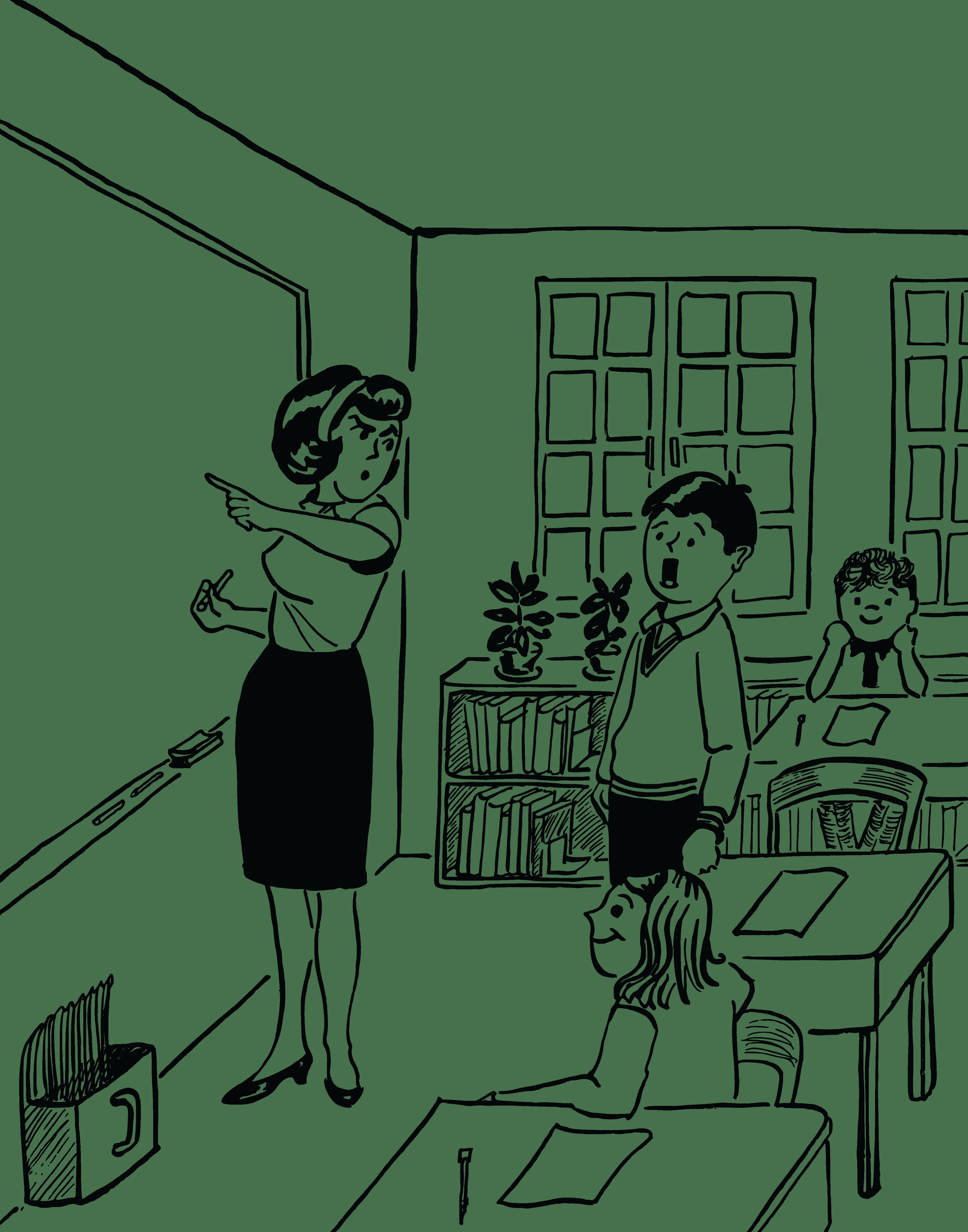 Clipart black and white teacher 7 » Clipart Portal.
