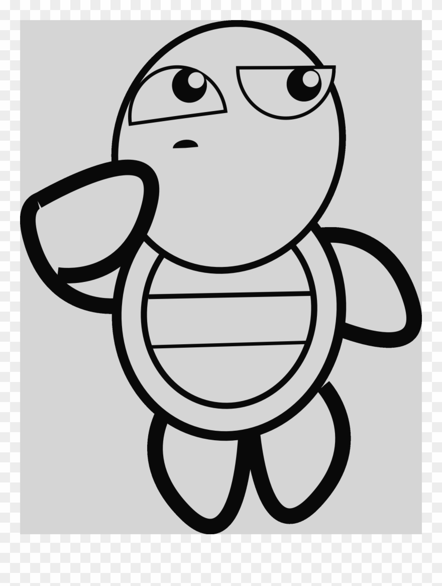 Turtle Free Clipart Black And White.