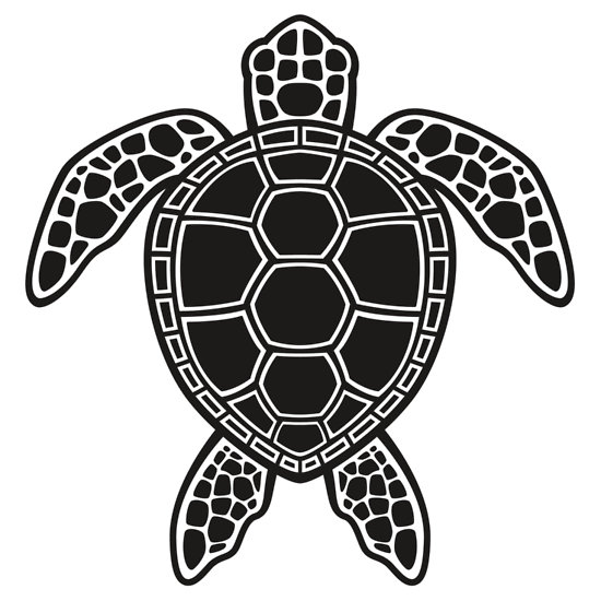 Best Turtle Clipart Black And White #12960.