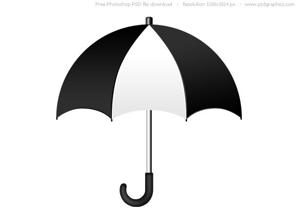 black and white umbrella clip art.