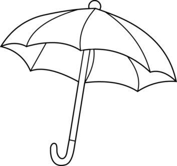 Umbrella Clipart Black And White clipart black a...