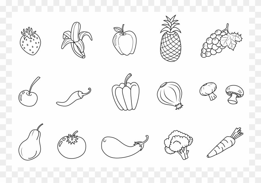 Vegetables Black And White Vegetables Clipart Black.
