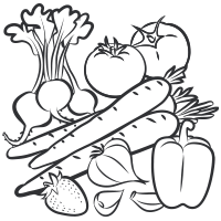 Black And White Vegetables Png & Free Black And White Vegetables.png.