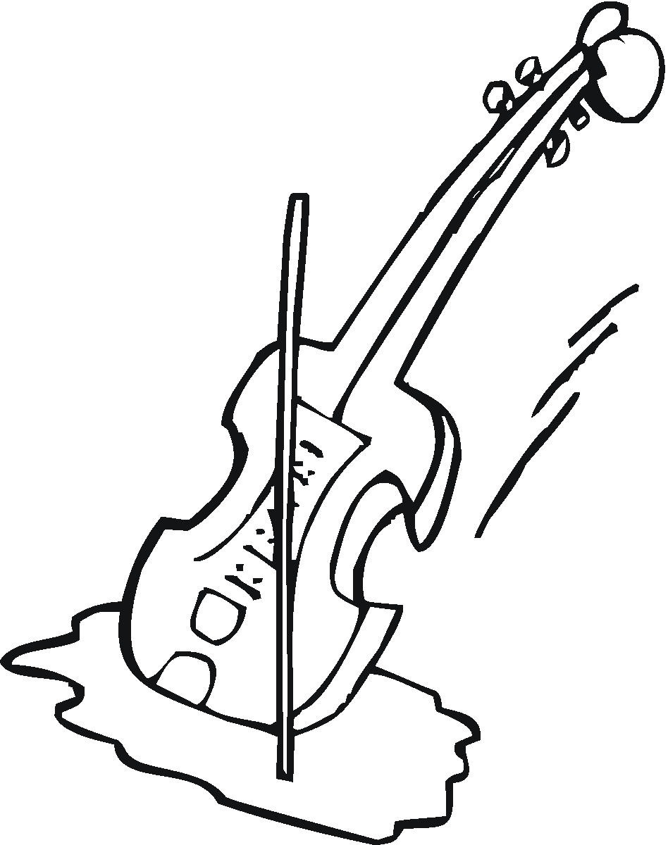 Violin Clipart Black And White.