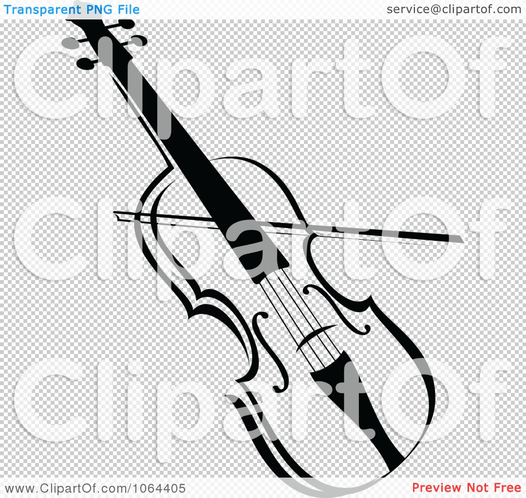 Clipart Violin In Black And White.