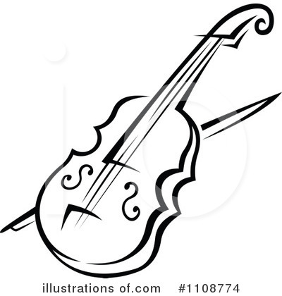 Violin Clipart Black And White & Violin Black And White Clip Art.