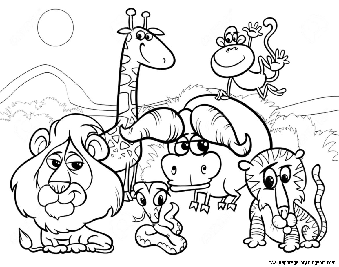 Free Black And White Zoo Clipart (39+).