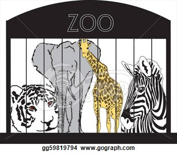 Zoo Clip Art Black And White Free.