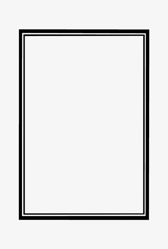 Double Black Border Text, Black, White, Text PNG Transparent Image.
