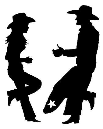 Cowboy Cowgirl Silhouette Clip Art.