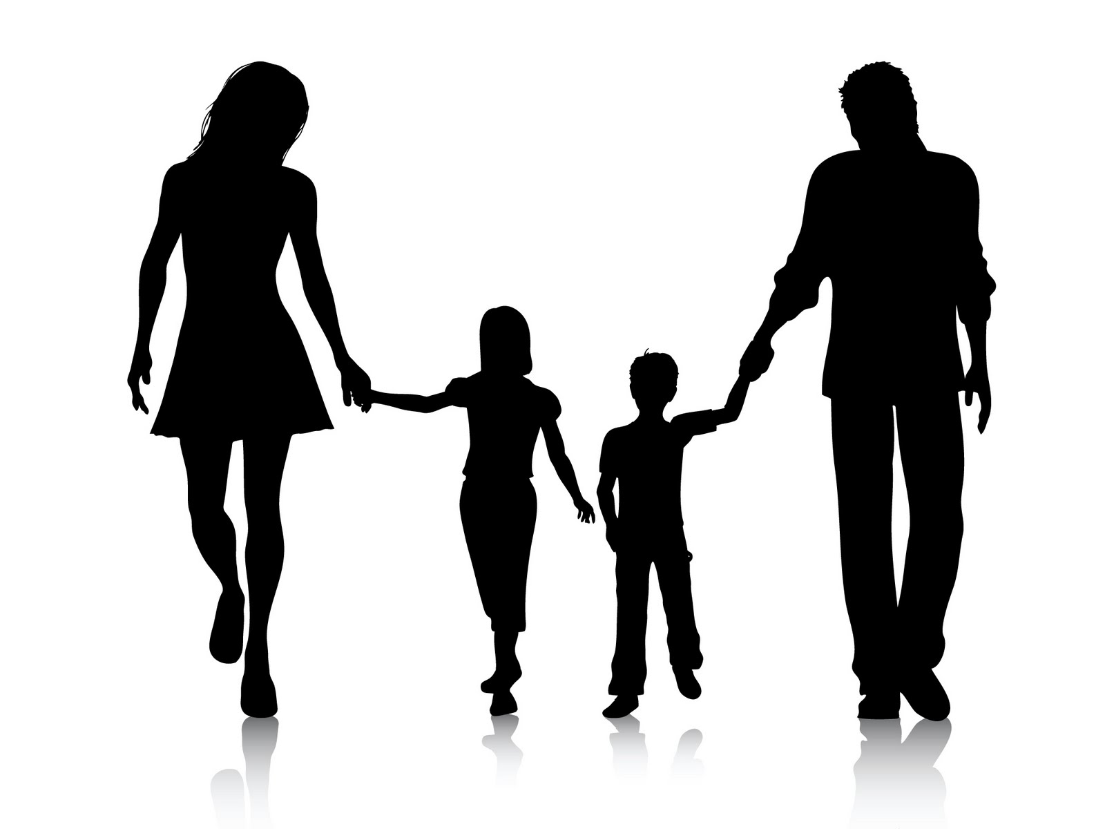 Happy Black Family Clipart.