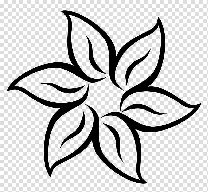 Black flower illustration, Flower Black and white , Flower.