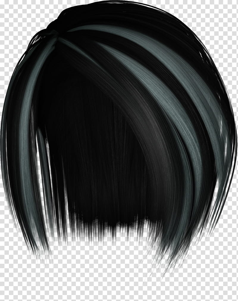 Hairstylez , black and gray hair transparent background PNG clipart.